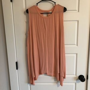 Peach Sleeveless Tunic, Piko Material, Women's L